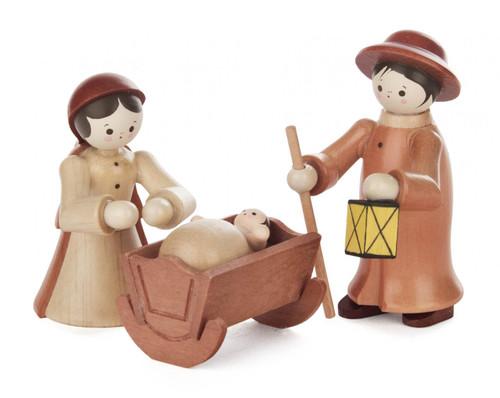 Wooden German Nativity Handmade Figurines