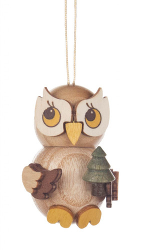 Owl With Tree Wooden German Ornament ORD199X565X8