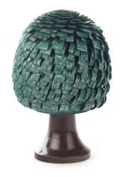 Tree Wooden German Green Figurine