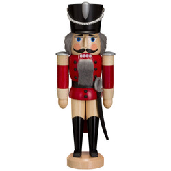 Nutcracker Hussar Red Natural 11 Inches - 11312X1