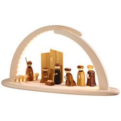 Schwibbogen Illuminated Light Arch Modern Nativity Scene LED 15371