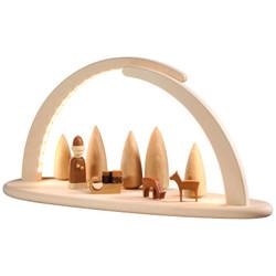 Schwibbogen Illuminated LED Modern Light Arch with Santa Sled Deer 15373