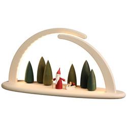 Schwibbogen Illuminated LED Modern Light Arch with Santa Gnome 15376