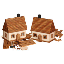 German DIY Smoker KIT - TWO Small Houses 2.4 Inches - 20022