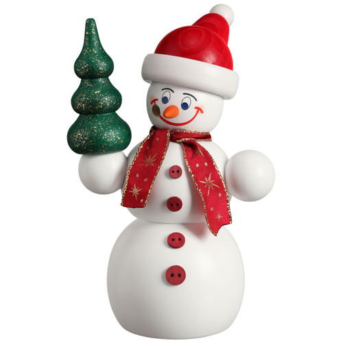 Happy Snowman with Tree Germany Smoker 5.9 Inches 12212