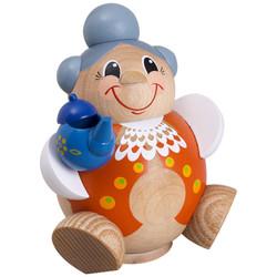 Happy MINI German Smoker Incense Figure Grandma Teapot 4.3 Inches - 19122