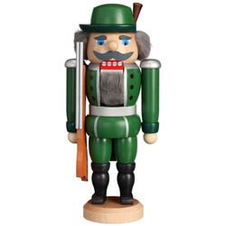 Green Hunter German Nutcracker - 9.4 Inches - 11958