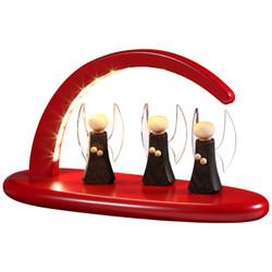 German Candle Arch Angel Red Schwibbogen LED - 15355