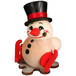 MINI Snowman Ice Skates German Smoker Incense Figurine 3.5 Inches  - 19607