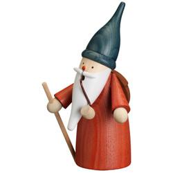 Gnome Hiker German Smoker Figurine 6.3 Inches - 12320