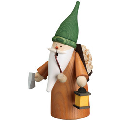 Gnome Gathering Forest Wood German Smoker 6.3 Inches - 12322
