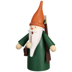 Forest Hunting Gnome German Smoker 6.3 Inches - 12325