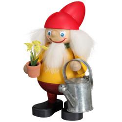 Garden Gnome German Smoker Incense Figurine 6.3 Inches - 12403
