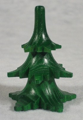 Tree Short Figurine Green