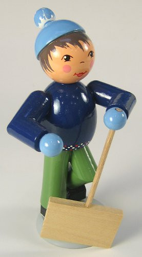 Winter Kids Snow Shovel 5 inch Figurine