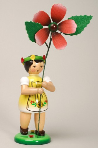 Yellow Flower Girl Figurine