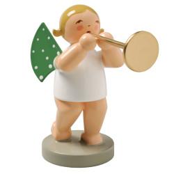 Blonde Angel Ceremonial Trumpet Wendt Kuhn Figurine FGW650X15