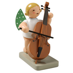 Blonde Angel Double Bass Figurine Wendt Kuhn FGW650X7