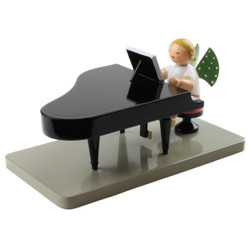 Blonde Angel Grand Piano Figurine Wendt Kuhn Closed FGW650X23