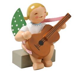 Blonde Angel Guitar Figurine Wendt Kuhn Sitting FGW650X38A