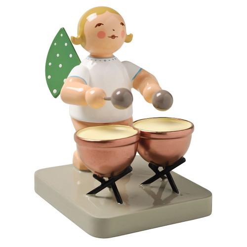 Blonde Angel Kettle Drums Figurine Wendt Kuhn FGW650X25