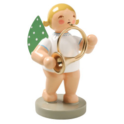 Blonde Angel Orchestra Horn Figurine Wendt Kuhn FGW650X56