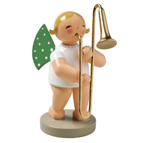 Blonde Angel Trombone Figurine Wendt Kuhn FGW650X29