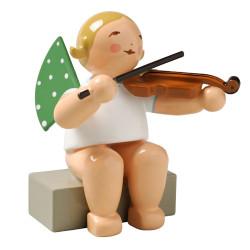 Blonde Angel Viola Figurine Wendt Kuhn Sitting FGW650X55A