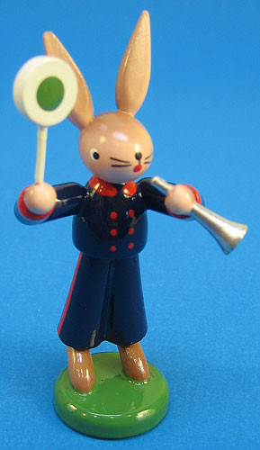Bunny Figurine Conductor Police Traffic Cop