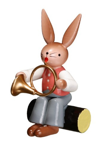 Bunny Playing French Horn