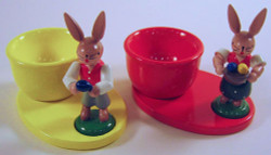 Egg Cups Bunny Figurines