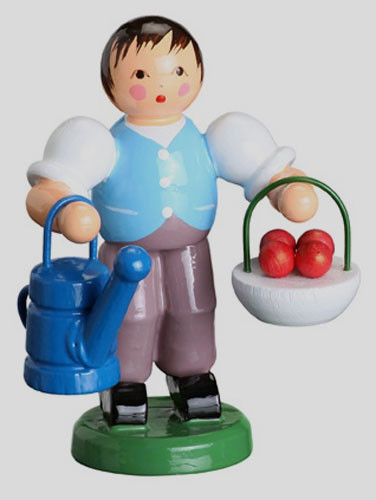 Figurine with Basket of Apples