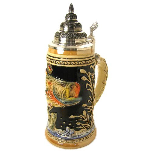 Fishing Trout German Beer Stein