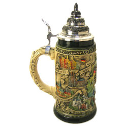 German City Maps .75 Liter Beer Stein