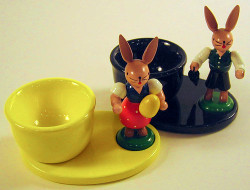 Girl Boy Rabbit Egg Cups