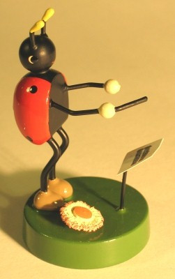 Lady Bug Band Conductor Figurine Large