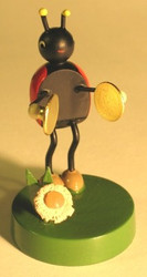 Lady Bug Band Cymbal Figurine