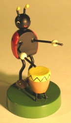 Lady Bug Band Drummer Figurine