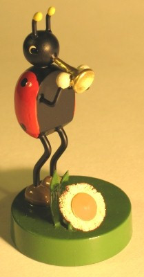 Lady Bug Band Trumpet Figurine