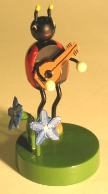 Lady Bug Mandolin Figurine
