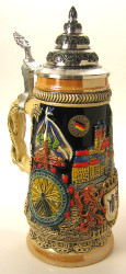 Munchen Scene German Beer Stein