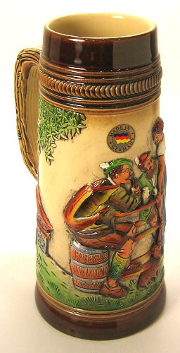 Old German Beer Waitress Stein