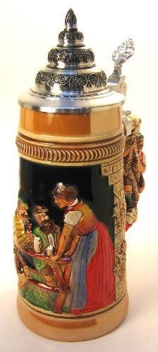 Old German Man Beer Stein