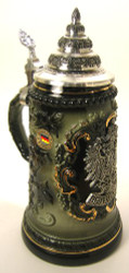 Pewter Eagle German Beer Stein