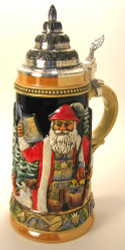 Silent Night Santa German .75L Beer Stein