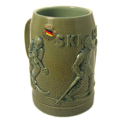 Ski Heil German Beer Stein
