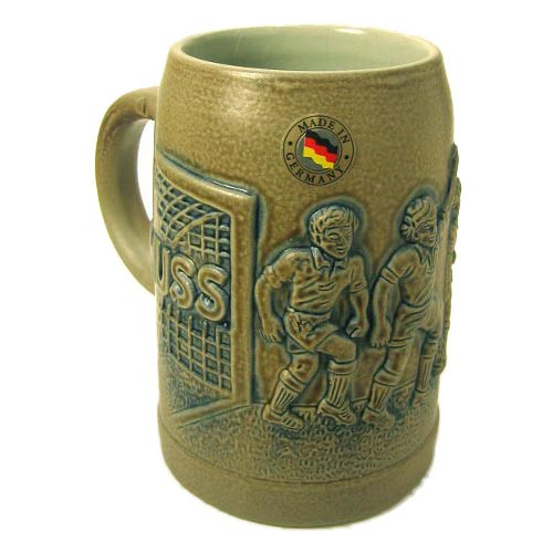Soccer Football German Beer Stein
