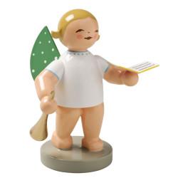 Wendt Kuehn Blonde Angel Songbook Horn Figurine FGW650X19