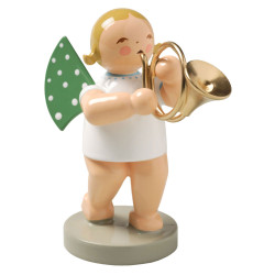 Blonde Wendt Kuhn Angel French Horn Figurine FGW650X17