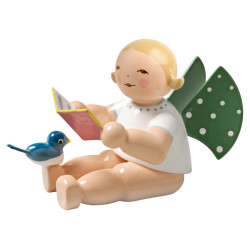 Wendt Kuhn Blonde Angel Songbook Bird Figurine FGW650X12A